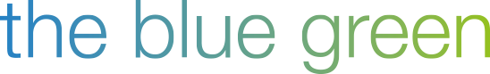 the blue green - logo